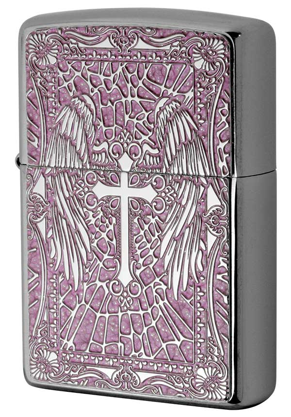 Zippo ジッポー 200 Flat Bottom Metal Paint Plate 2MPP-Cross PK メール便可