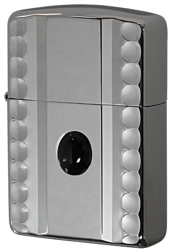 Zippo ジッポー アーマー NC両面彫刻 天然石貼り NC-Onyx WN メール便可