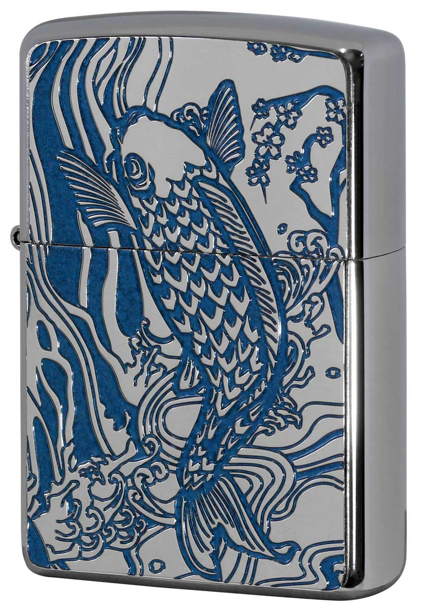 Zippo ジッポー 200 Flat Bottom Metal Paint Plate 2MPP-Carp BL メール便可