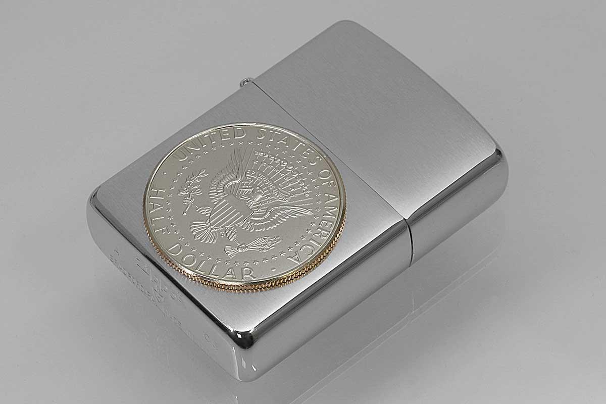 Zippo ジッポー 絶版・2005年製造 ARMOR アーマー #162 ハーフダラーコイン 国章 イーグル メール便可
