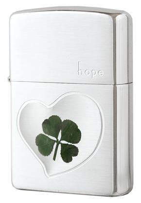 Zippo ジッポー 本物四つ葉のクローバー シルバー(Hope)