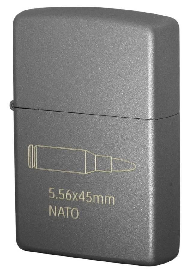 Zippo ジッポー CERAKOTE BULLET セラコート ビュレット NATO GRAY 63470298