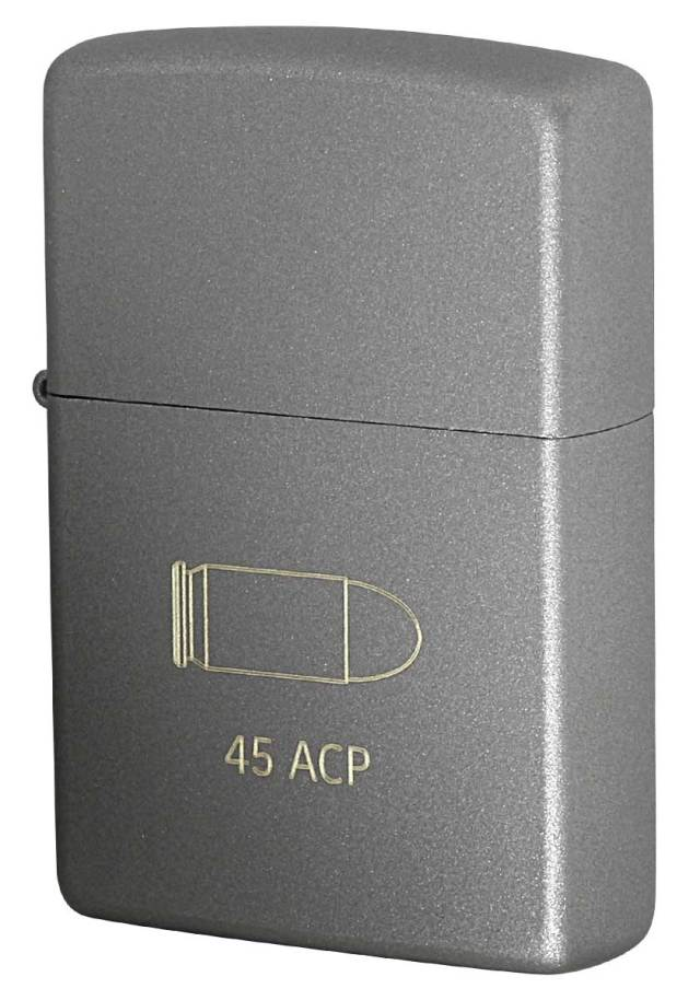 Zippo ジッポー CERAKOTE BULLET セラコート ビュレット 45ACP GRAY 63470698