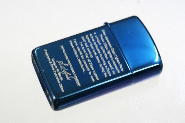 Zippo ジッポー 絶版・2003~4年製造 サファイア スリム メッセージ No.20494