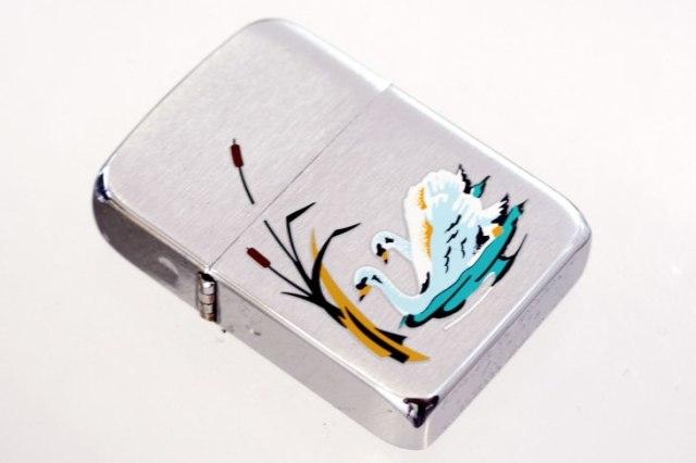 Zippo ジッポー 絶版・2001年製造 SWAN 白鳥 #R-112 メール便可