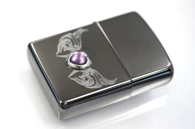Zippo ジッポー 絶版・2005年製造 LOVER'S STONE ネオブラック D