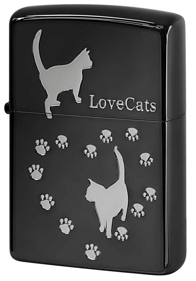 Zippo ジッポー Love Cat 猫が大好き ブラック LCAT-BKS メール便可