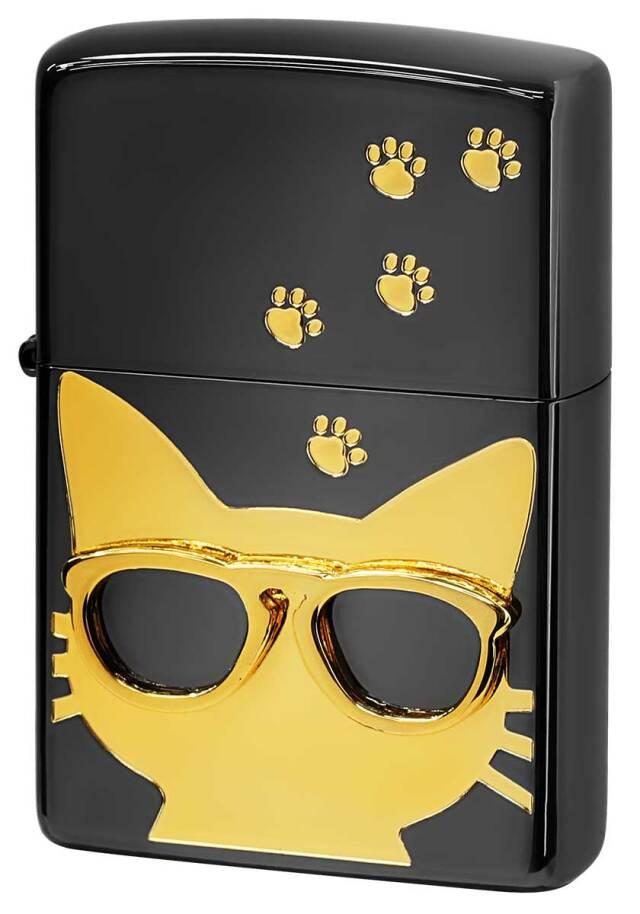 Zippo ジッポー Love Cat 猫が大好き サングラス ゴールド BdCAT-GD メール便可