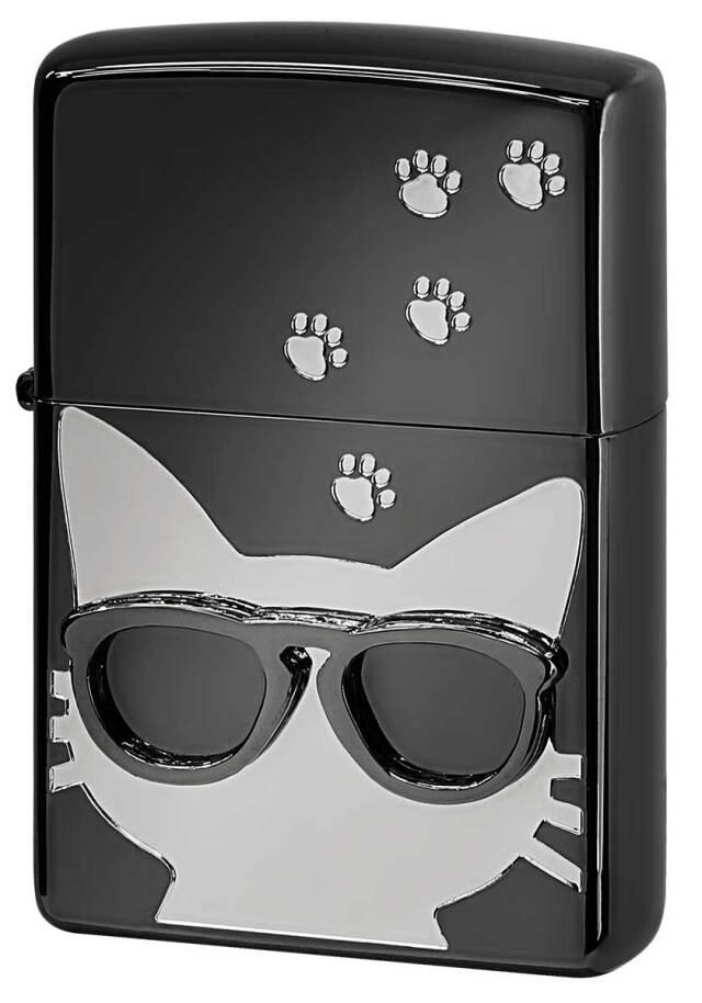 Zippo ジッポー Love Cat 猫が大好き サングラス シルバー BdCAT-SV メール便可