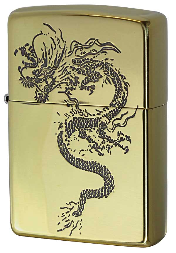 Zippo ジッポー 和柄 龍 Japanese pattern Dragon 2BS-WDR1