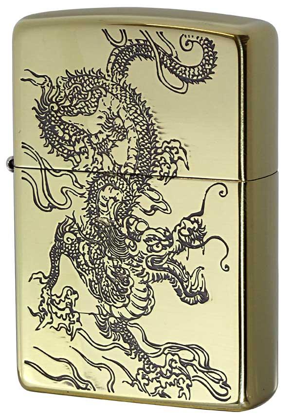 Zippo ジッポー 和柄 龍 Japanese pattern Dragon 2BS-WDR2 メール便可
