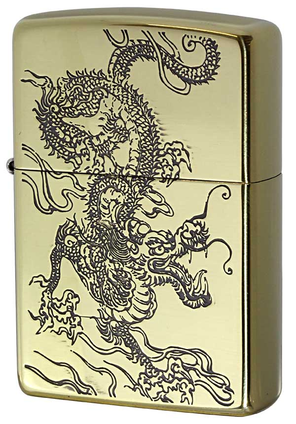 Zippo ジッポー 和柄 龍 Japanese pattern Dragon 2BS-WDR2