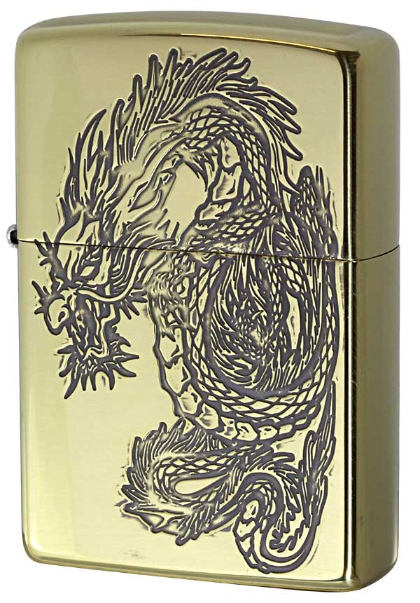 Zippo ジッポー 和柄 龍 Japanese pattern Dragon 2BS-WDR3 メール便可
