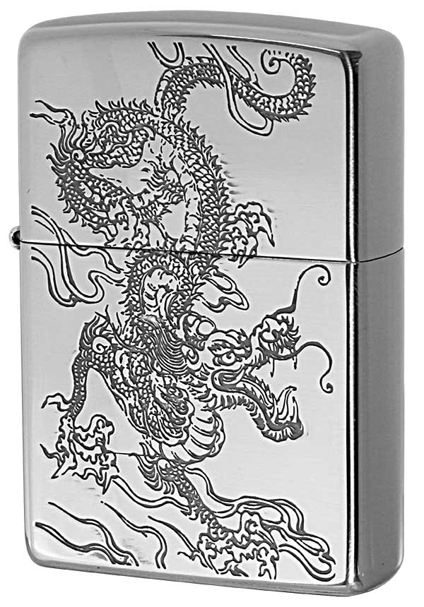 Zippo ジッポー 和柄 龍 Japanese pattern Dragon 2SV-WDR2
