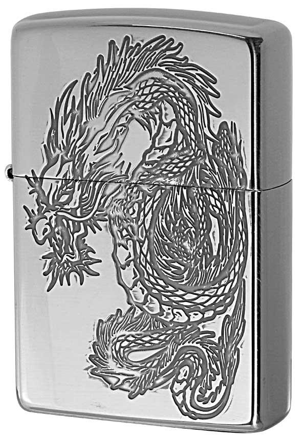 Zippo ジッポー 和柄 龍 Japanese pattern Dragon 2SV-WDR3 メール便可