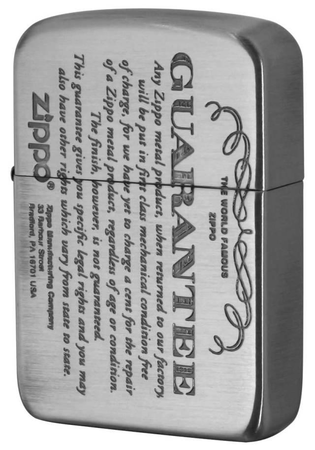 Zippo ジッポー GUARANTEE No.1941 ギャランティー柄 41GRT-NI メール便可