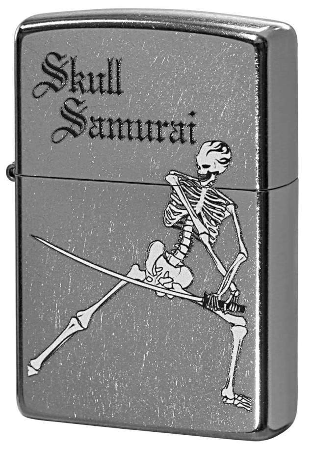 Zippo ジッポー Processing in USA Skull Samurai Z207-411668 メール便可