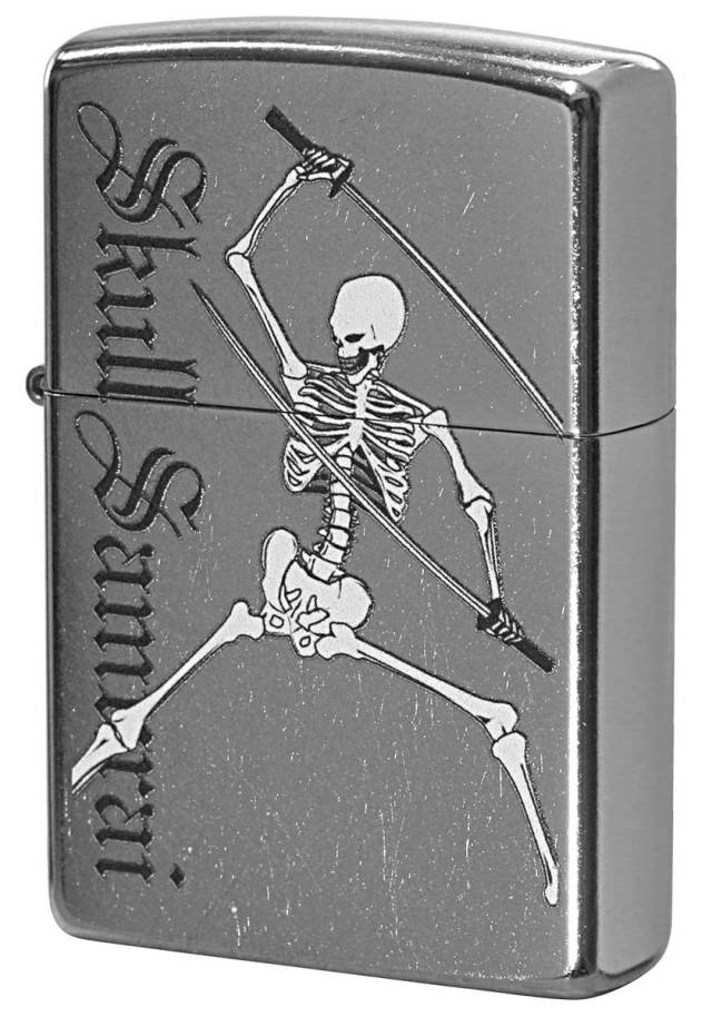 Zippo ジッポー Processing in USA Skull Samurai Z207-411669 メール便可