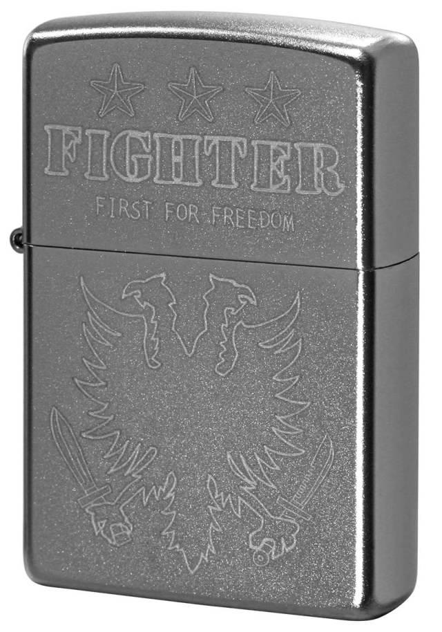 Zippo ジッポー Processing in USA FIGHTER Z205-402742 メール便可
