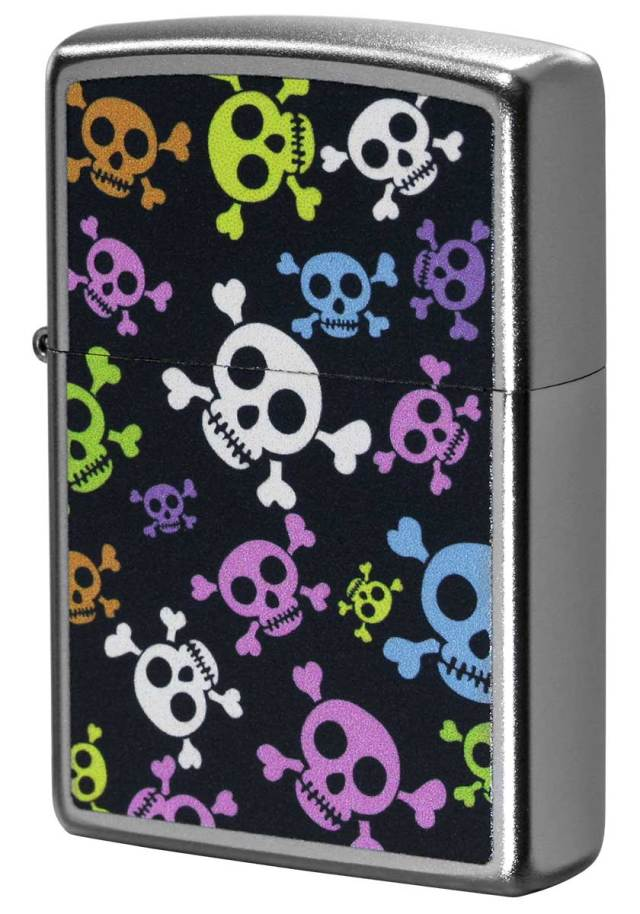 Zippo ジッポー Processing in USA Colorful Skull Z205-411673 メール便可