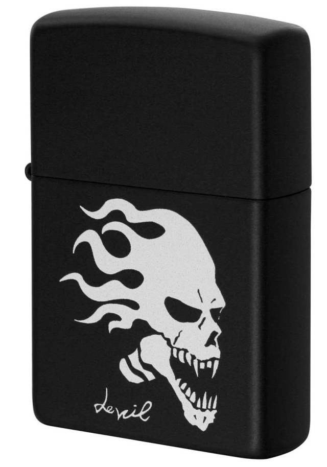 Zippo ジッポー Processing in USA Black Devil Z218-411679 メール便可
