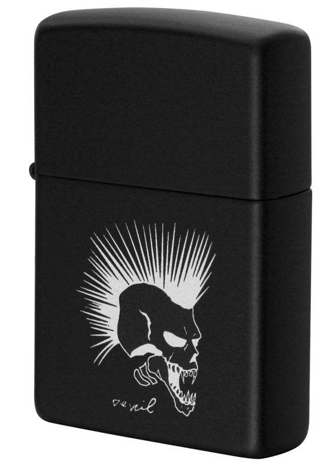 Zippo ジッポー Processing in USA Black Devil Z218-411674 メール便可