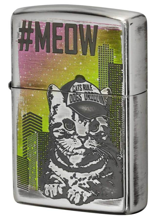 Zippo ジッポー Meow of a cat 猫の鳴き声 CAT-KB メール便可