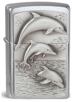 ヨーロッパ直輸入Zippo ジッポー Dolphins 1900456
