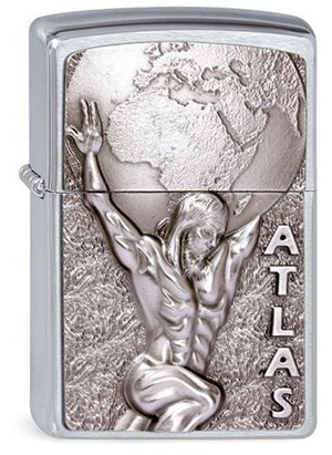 ヨーロッパ直輸入Zippo ジッポー Atlas 2003184