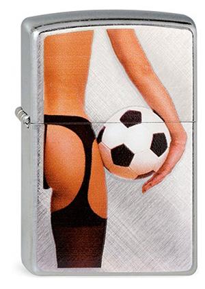 Zippo ジッポー Lady & Soccer Ball 28182
