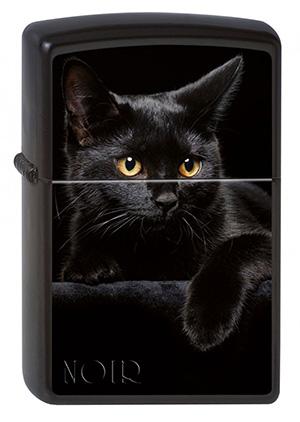 ヨーロッパ直輸入Zippo ジッポー Cat Noir 2002049