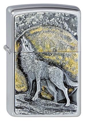 ヨーロッパ直輸入Zippo ジッポー Wolf at Moonlight 2003038