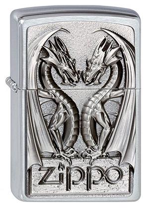 ヨーロッパ直輸入Zippo ジッポー Twins Dragon Heart 2002728