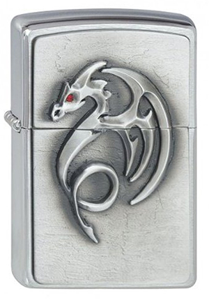 ヨーロッパ直輸入Zippo ジッポー Red Eyed Dragon 2001321