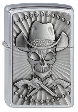 ヨーロッパ直輸入Zippo ジッポー Cowboy Skull 2001982 メール便可
