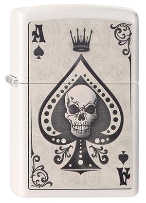 ヨーロッパ直輸入Zippo ジッポー Ace Skull Card 2004218