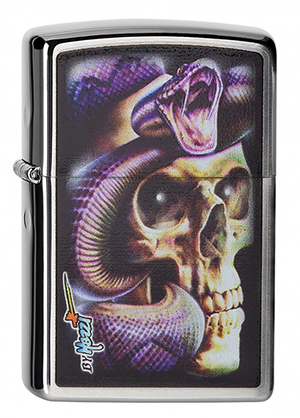 ヨーロッパ直輸入Zippo ジッポー Mazzi-Skull Snake 2004229 メール便可