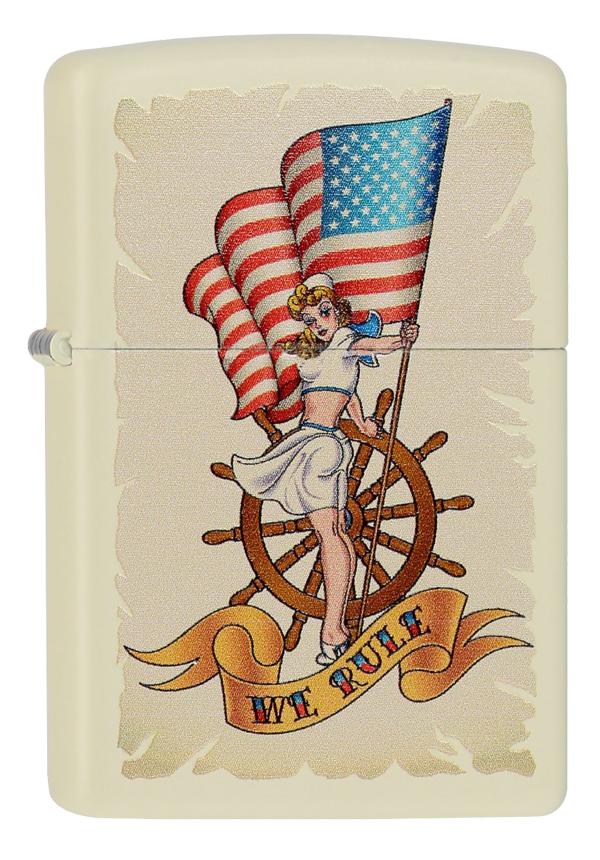 ヨーロッパ直輸入Zippo ジッポー Pin Up Nautical mit Flagge 60000027