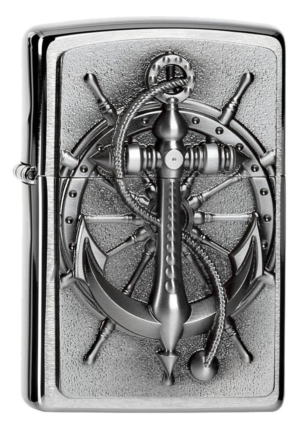 ヨーロッパ直輸入Zippo ジッポー Nautic Anchor Emblem 2004290 メール便可