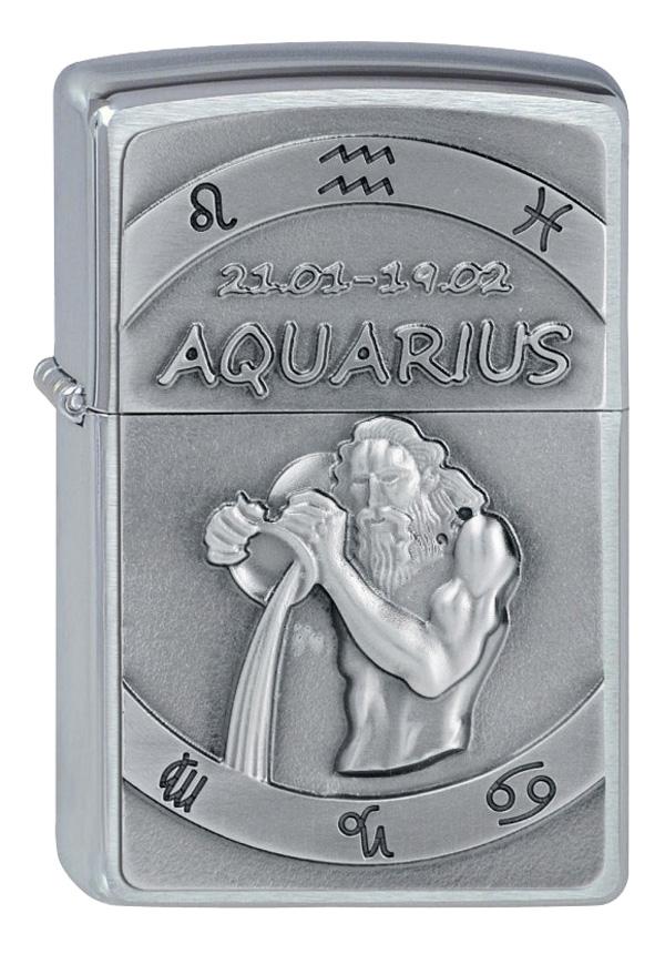 ヨーロッパ直輸入Zippo ジッポー Zodiac Aquarius 水瓶座 2002070