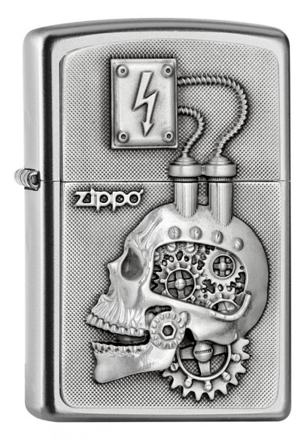 ヨーロッパ直輸入Zippo ジッポー Skull Power Engine Head Emblem 2005139