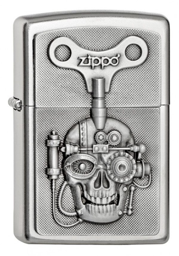 ヨーロッパ直輸入Zippo ジッポー Mechanical Skull Emblem 2005136