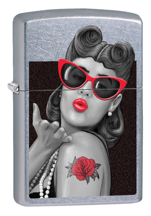 ヨーロッパ直輸入Zippo ジッポー Rockabilly Lip Gloss 60002617