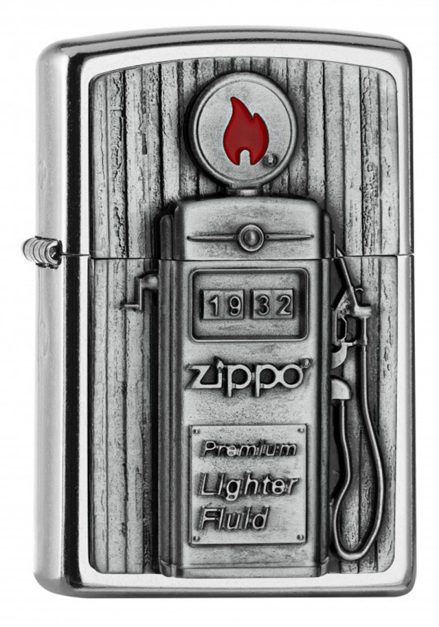 ヨーロッパ直輸入Zippo ジッポー Gas Pump Emblem 3D 2006474 メール便可