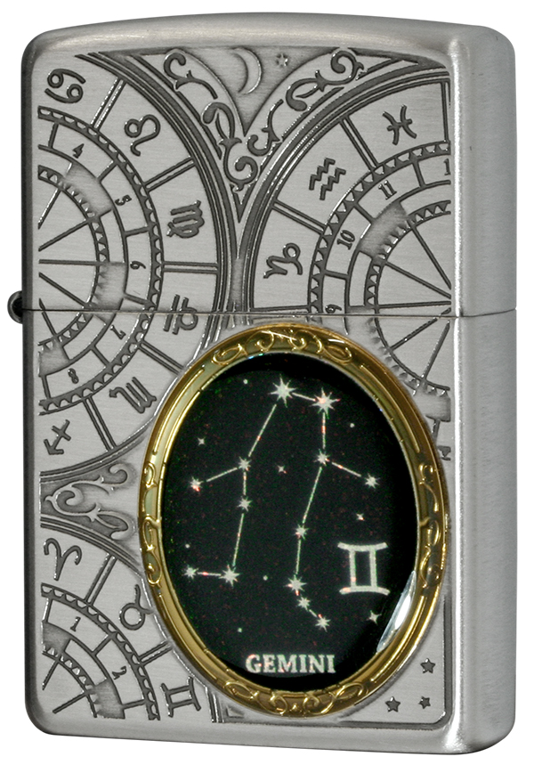 Zippo ジッポー 12星座メタル Constellation Metal 双子座 1201S522