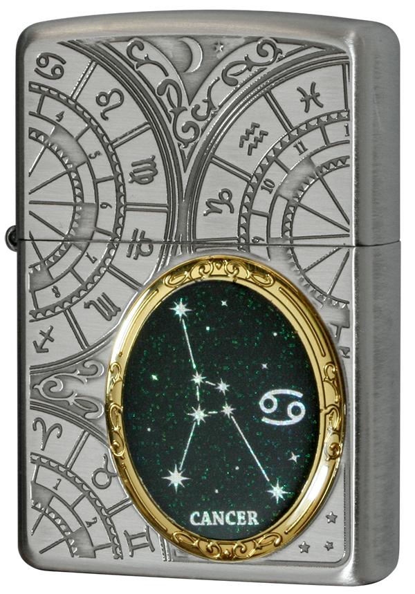 Zippo ジッポー 12星座メタル Constellation Metal 蟹座 1201S523