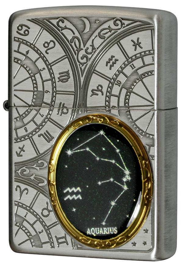 Zippo ジッポー 12星座メタル Constellation Metal 水瓶座 1201S530