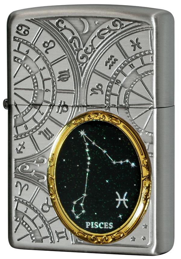 Zippo ジッポー 12星座メタル Constellation Metal 魚座 1201S531