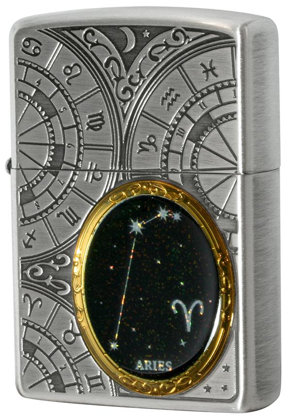 Zippo ジッポー 12星座メタル Constellation Metal 牡羊座 1201S520