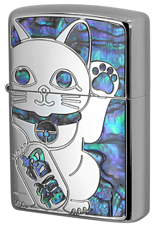 Zippo ジッポー SHELL LUCKY CAT シェル ラッキーキャット 1201S685 SV